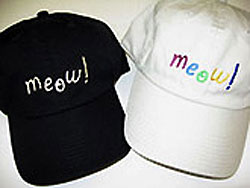Meow! Embroidered Hat