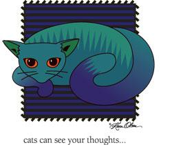 Cats Can See Your Thoughts (Tees, Sweatshirts)