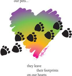 Footprints On Our Hearts Tote