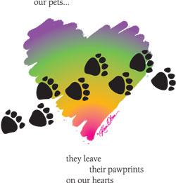 Pawprints On Our Hearts (Tees, Sweatshirts)