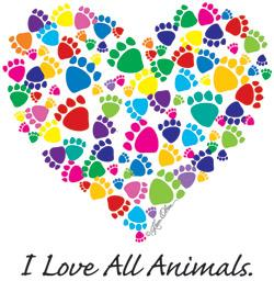 I Love All Animals Tote