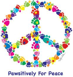 Pawsitively For Peace (Tees, Sweatshirts)