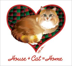 House And Cat Equal Home Tote