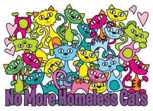 No More Homeless Cats (Tees, Sweatshirts)