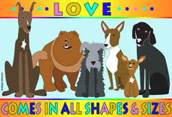 Love Comes In All Shapes & Sizes (Tees, Sweatshirts)
