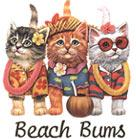Cat Corner-Beach Bum Kitties (Tees, Sweatshirts)
