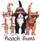 Cat Corner-Beach Bum Cats (Tees, Sweatshirts)