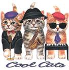 Cat Corner-Cool Cats (Tees, Sweatshirts)