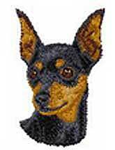Miniature Pinscher, Black,(D24) Embroidered Hat