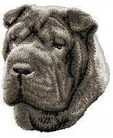 Shar Pei, Gray(D45) Embroidered Hat