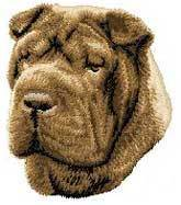 Shar Pei, Tan(D45BR) Embroidered Hat