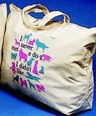 Never Met A Dog Tote