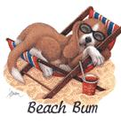 Beach Bum (Pup in Chair)