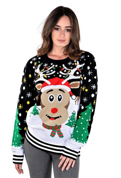 SoCal Look Boys Ugly Christmas Sweater Sloth Cool Pullover Red