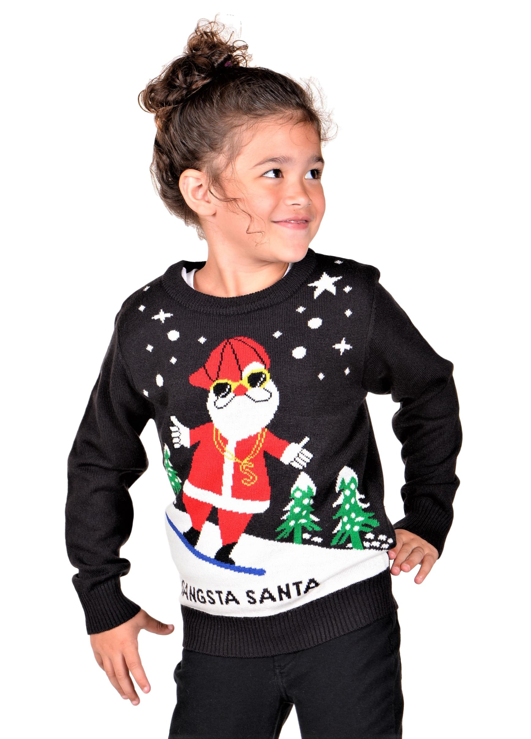 KESIS Children Ugly Christmas Sweater Red