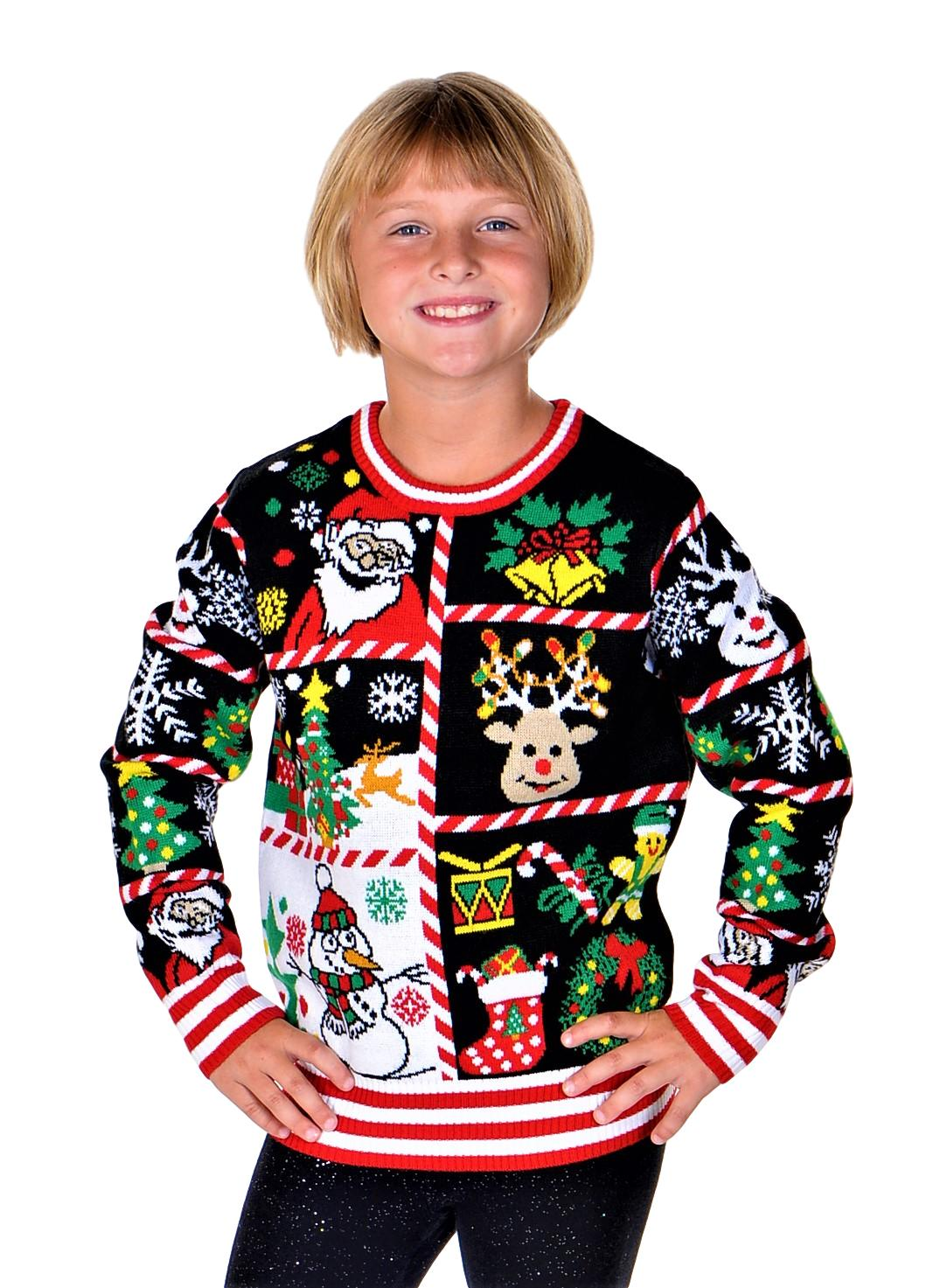 SoCal Look Girls Ugly Christmas Sweater Rudolph The Red Nose Pullover Red