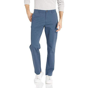 Straight-Fit Washed Comfort Stretch Chino Pant