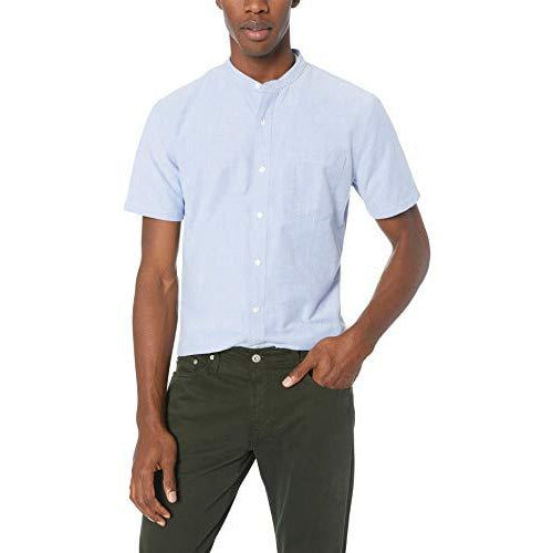 Band Collar Oxford Shirts