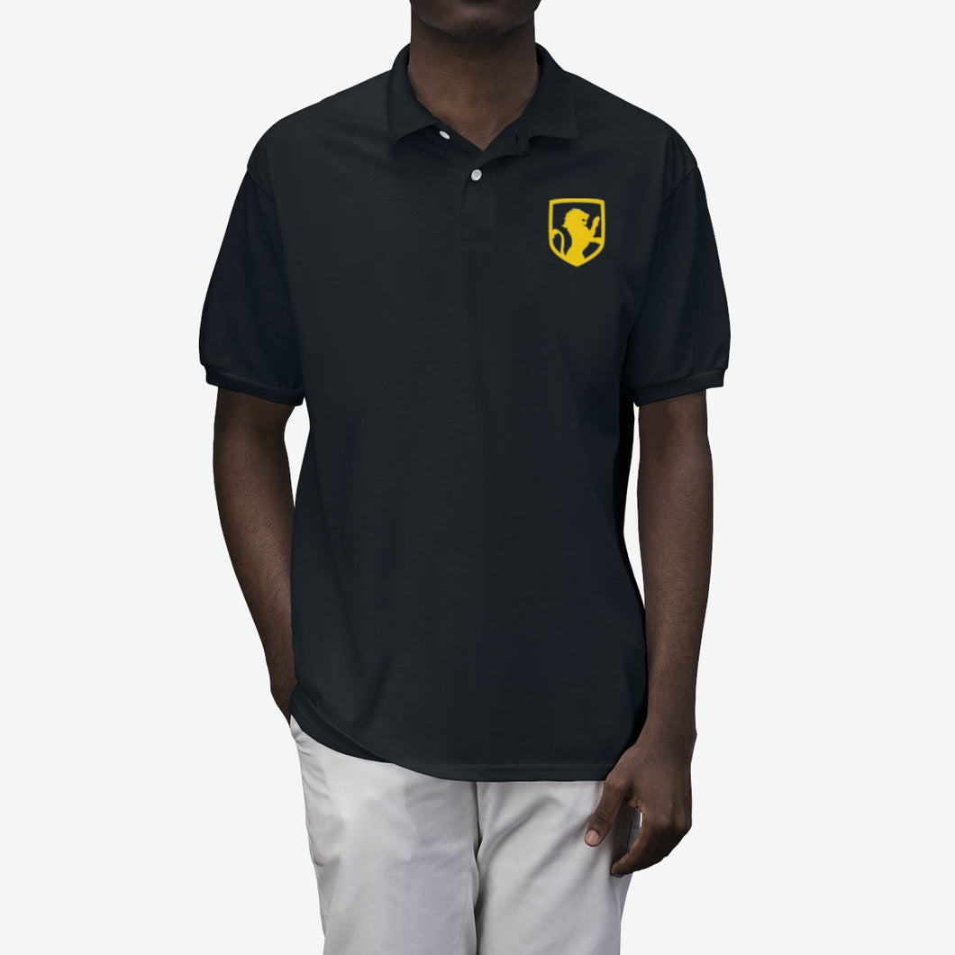 Men's Lion Emblem Polo Shirt