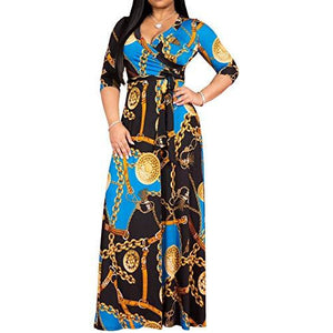 Stylish V Neck Maxi Dresses