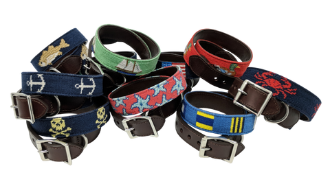 Needlepoint Dog Collars