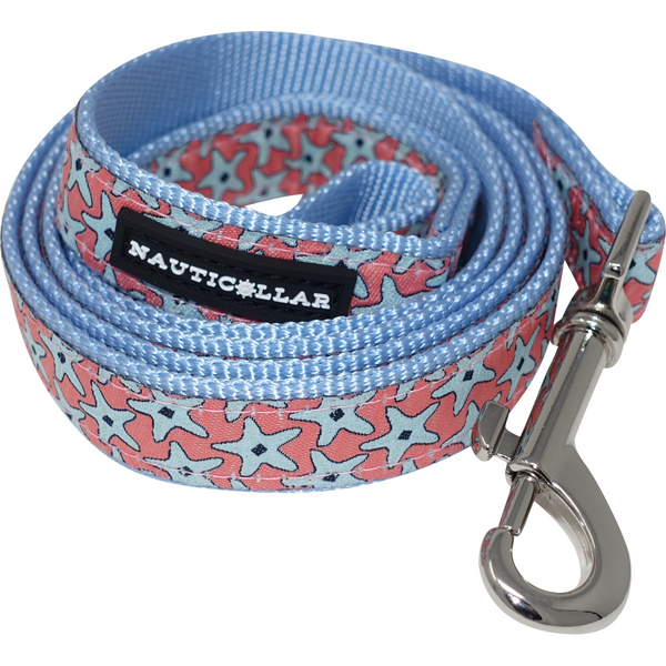 Starfish Nylon Ribbon Dog Leash