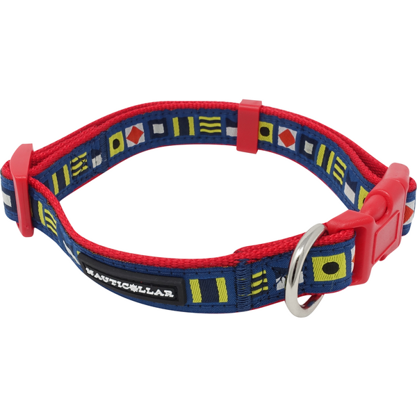 Nautical Maritime Signal Flag Adjustable Embroidered Nylon Dog Collar