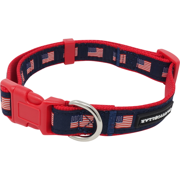 American Flag Nautical Adjustable Nylon Ribbon Collar