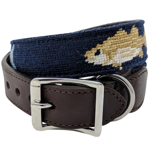 Nautical Fish Needlepoint Dog Collar by Nauticollar