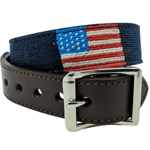 American Flag Nautical Needlepoint Dog Collar by Nauticollar