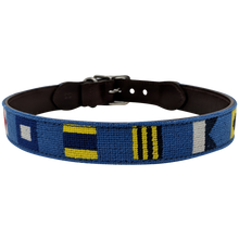 Nautical Flag Needlepoint Dog Collar Back
