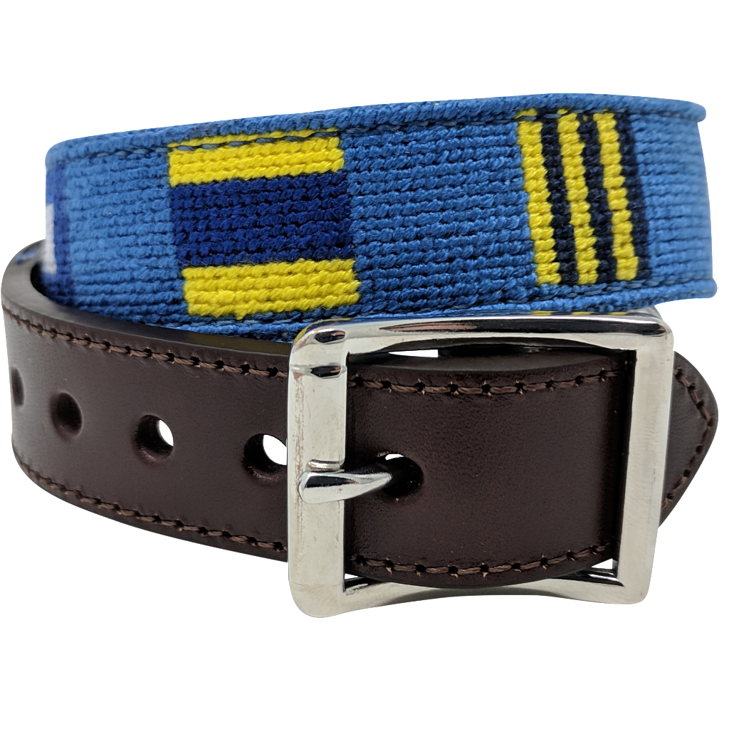 Nautical Flag Needlepoint Dog Collar by Nauticollar