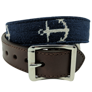 Anchor Nautical Needlepoint Dog Collar by Nauticollar