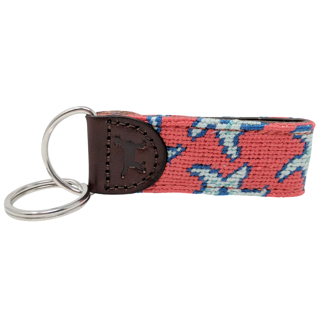 Starfish Needlepoint Key Fob