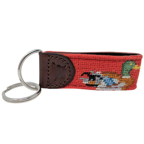 Duck Needlepoint Key Fob