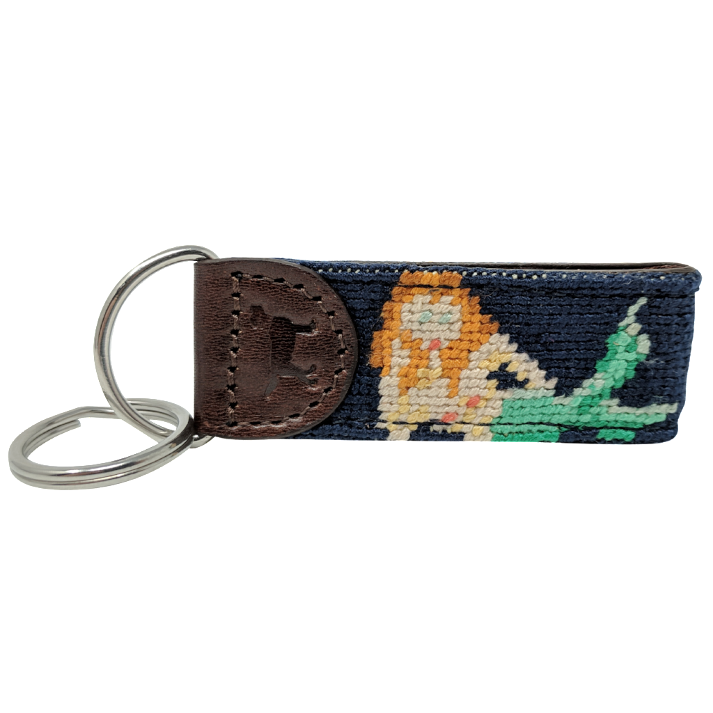 Mermaid Needlepoint Key Fob
