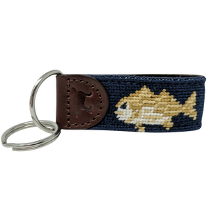 Fish Needlepoint Key Fob