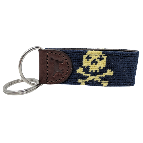 Jolly Pawger™ Skull and Crossbones Needlepoint Key Fob