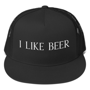 I LIKE BEER TRUCKER HAT (MESH BACK)