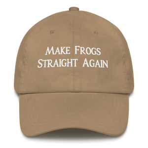 MAKE FROGS STRAIGHT AGAIN HAT (CURVED VISOR)
