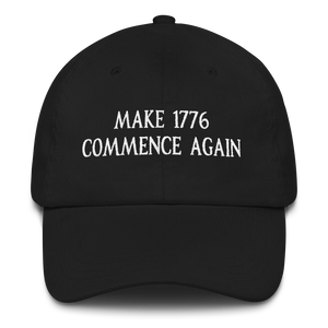 MAKE 1776 COMMENCE AGAIN HAT