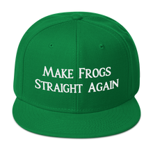 Load image into Gallery viewer, MAKE FROGS STRAIGHT AGAIN SNAPBACK