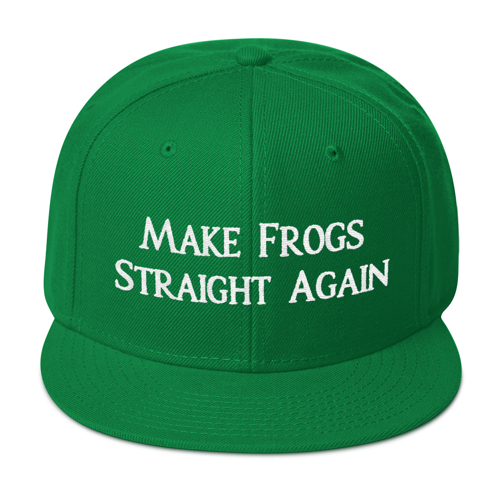 MAKE FROGS STRAIGHT AGAIN SNAPBACK