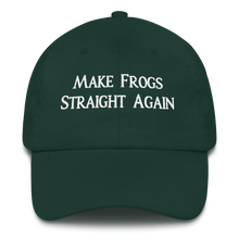 Load image into Gallery viewer, MAKE FROGS STRAIGHT AGAIN HAT (CURVED VISOR)