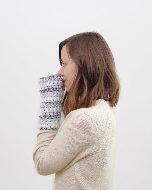 Crochet Pattern | Easy Fingerless Mittens. Wrist Warmers. Office Co-Worker Gift. Fall Accessories Crochet Pattern