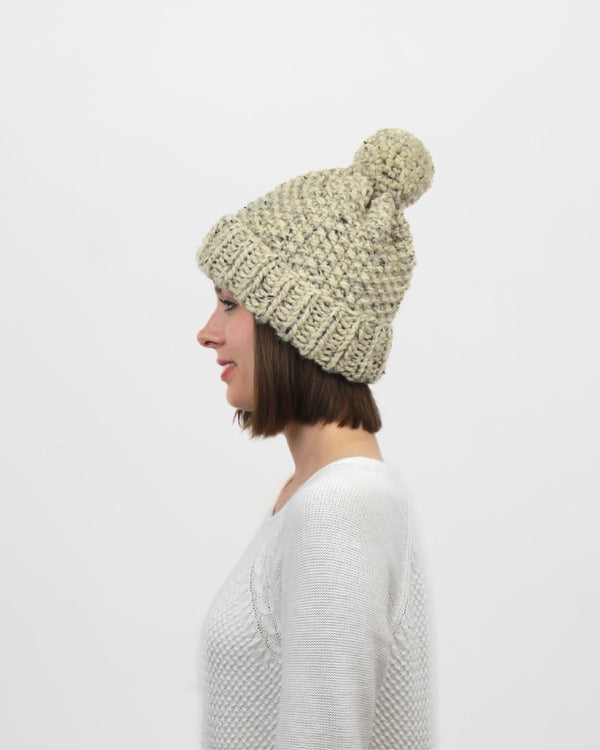 Knitting Pattern by Forefolk. Easy pom-pom hat pattern