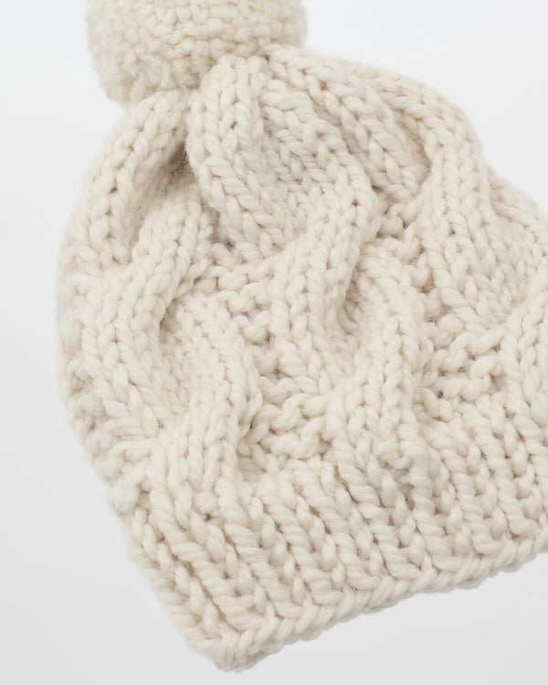 Cable Knit Hat Pattern For Beginners. Modern Knitting Pattern by Forefolk