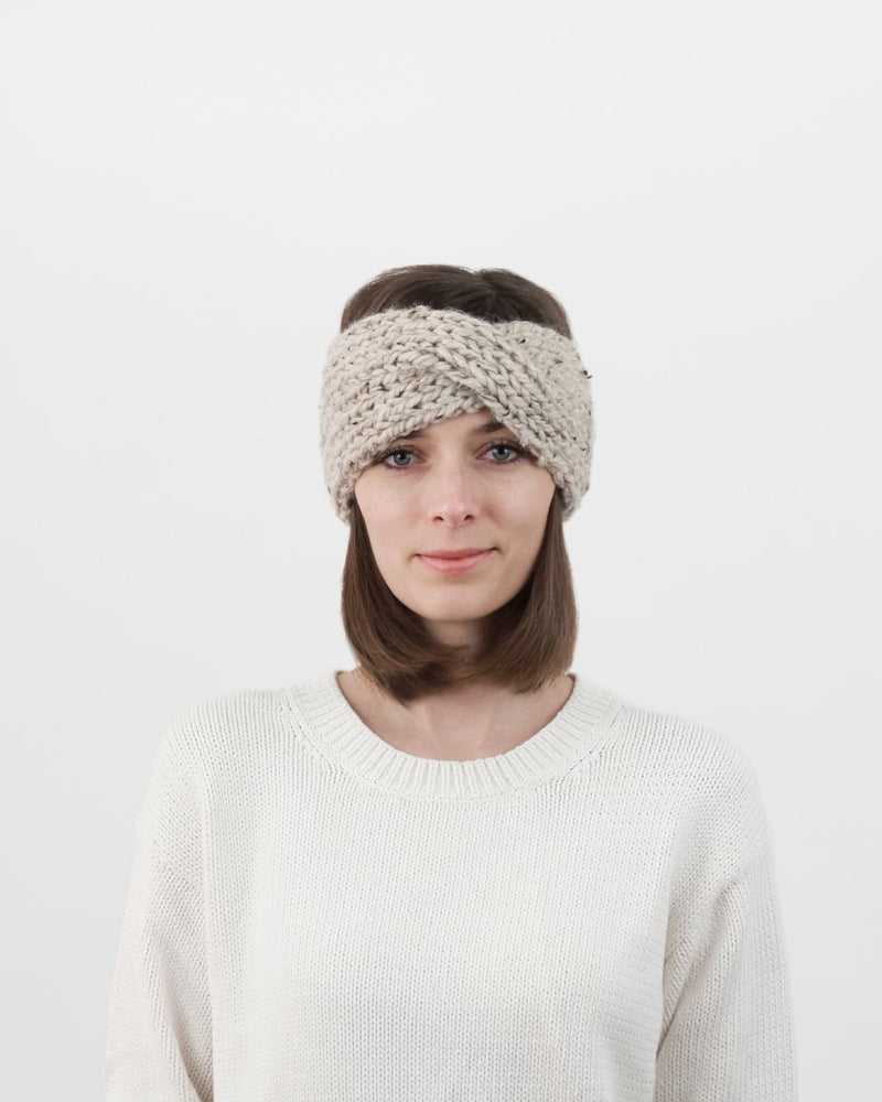 Knitting Pattern by Forefolk. Turban headband pattern. Easy winter headband pattern.