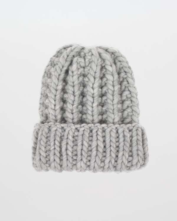 Handmade & Sustainably Sourced Wool Hat by Forefolk. The Cozy Beanie in grey.