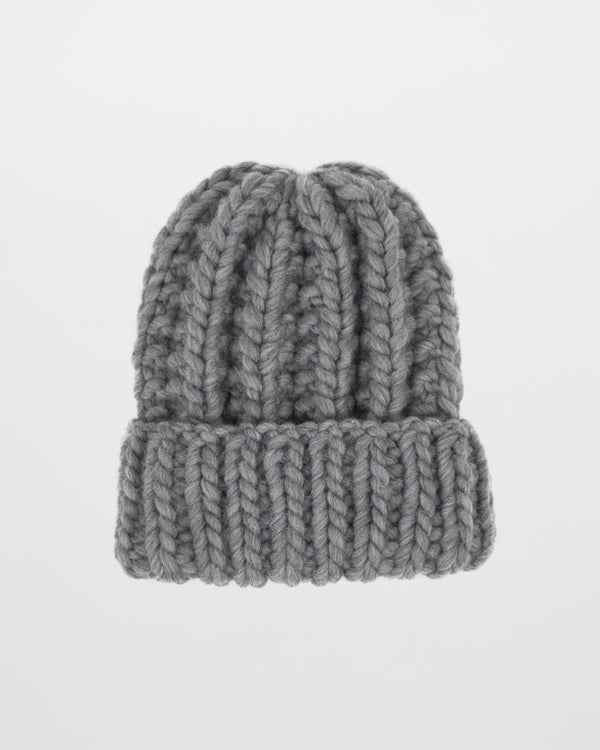 Limited Edition - The Cozy Beanie in Heather by Forefolk. Handmade and sustainably sourced chunky wool hat.
